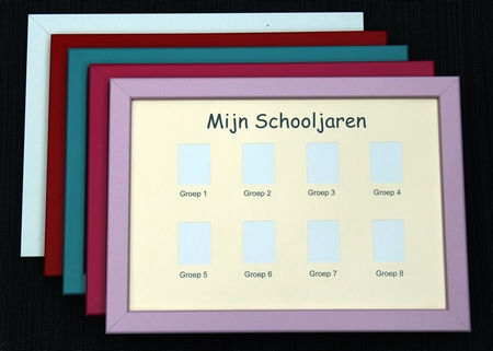 Pasfotolijst school groep 1-8 - Rode rand
